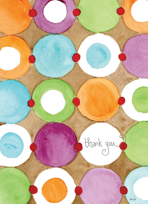 Colored Dots Thank You (closeout)
