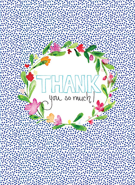 Thank You Floral Wreath