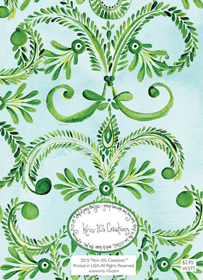 Green Dot Damask