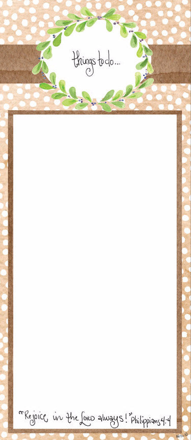 "Brown Dot ""To Do"" Notepad"