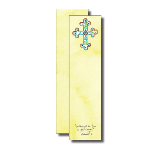 Yellow Cross Bookmark