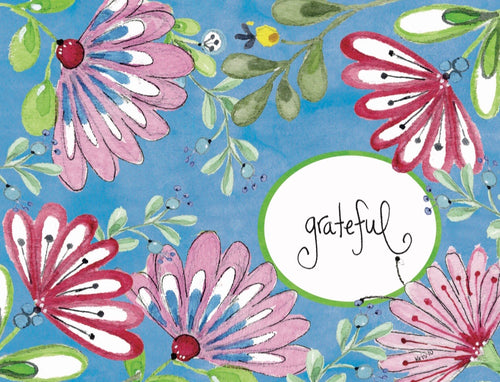 Bright Floral Grateful Boxed Notes