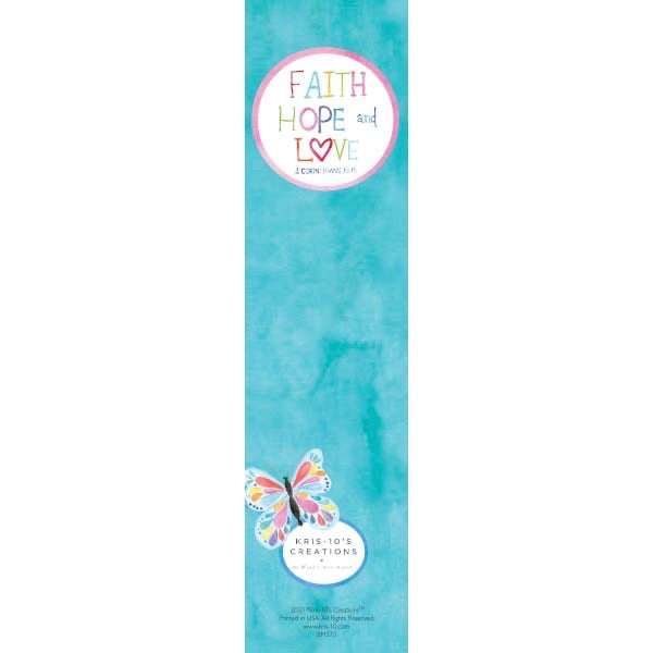 Butterfly Faith Hope Love Bookmark (unlaminated)