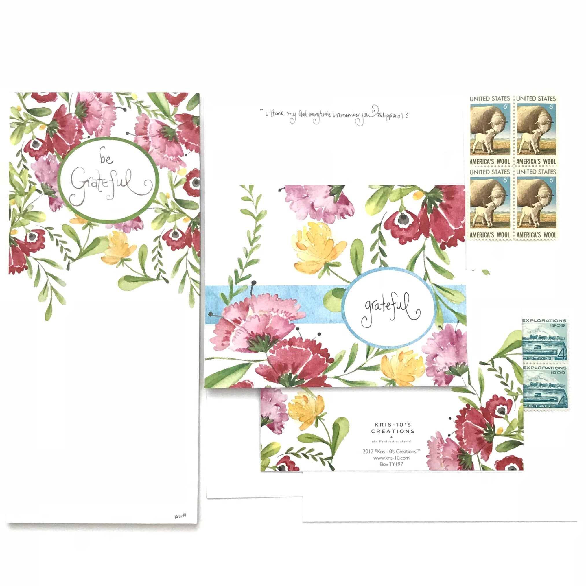 Grateful Blossoms Boxed Notes