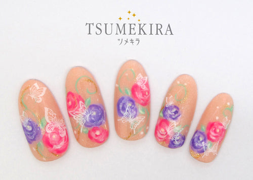 Tsumekira Butterfly White NN-BUT-101