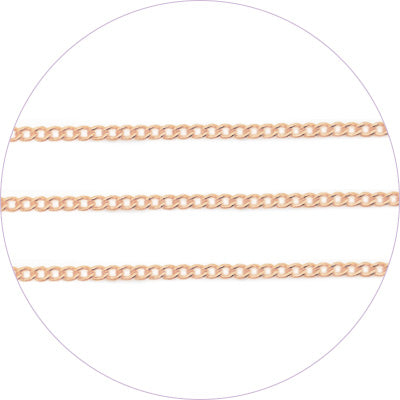 ageha Art Chain Pink Gold 0.7mm