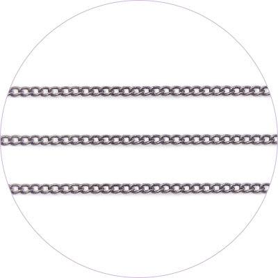 ageha Art Chain Metal Black 0.7mm