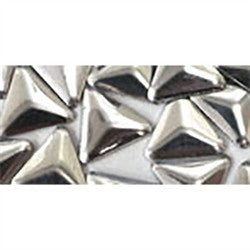 NLS Metal Studs Triangle Silver (3mm) 10pcs [Clearance]