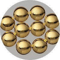 NLS Metal Dots Gold #6 (2.5mm) 50pcs