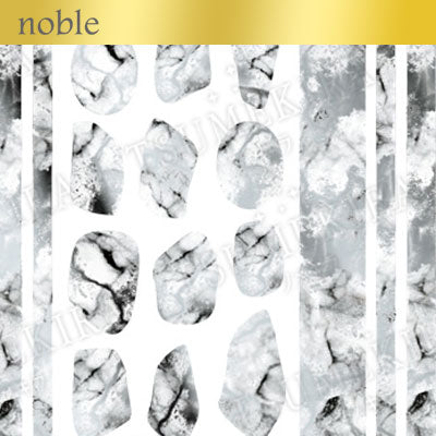 Tsumekira Noble Marble White x Silver NO-MAR-101 [NEW]