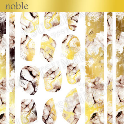 Tsumekira Noble Marble White x Gold NO-MAR-102 [NEW]