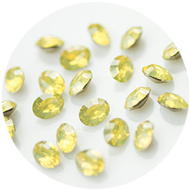 Nail Labo Fairy Stone V Cut Oval YELLOW OPAL [While Supplies Last]