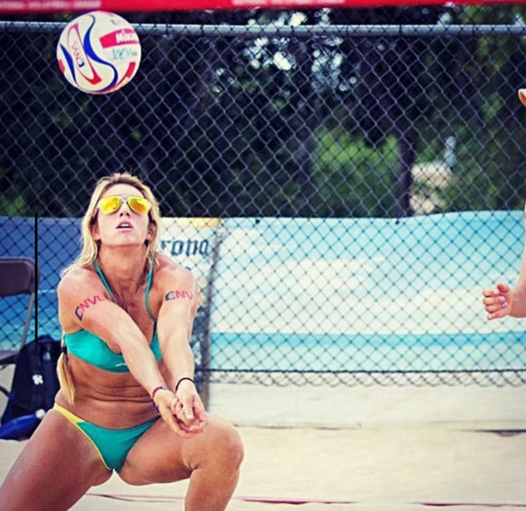 Our Brand Ambassador Mel Melville she is on the rise in the NVL, and a force to be noticed on and off sand.