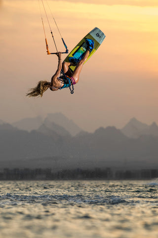 Colleen Carroll kiteboarding