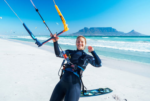 Wake up Stoked kiteboarder
