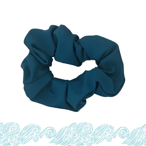 Recycled Scrunchie-Emerald Accessories Sensi Graves Bikinis