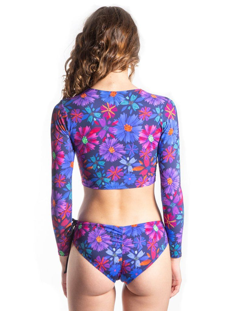 Rose Crop Top Rashguard Sensi Graves Bikinis Bloom small