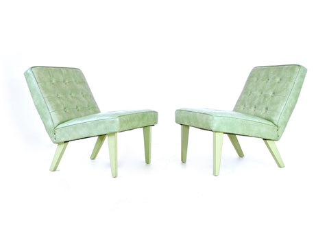 Mid Century Lounge Chairs Danish....