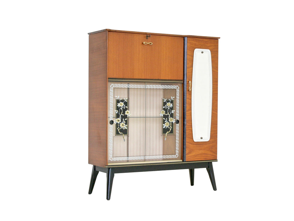 Mid Century Curio Cabinet French 1950s
