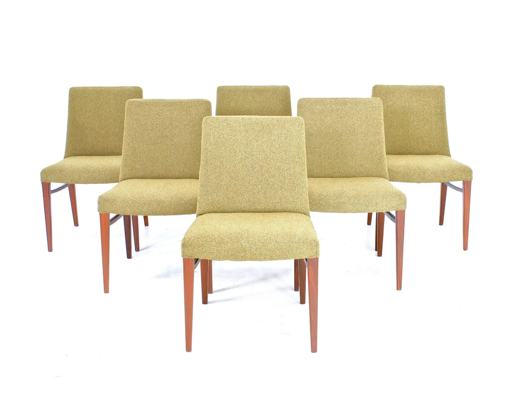 SET OF SIX MID CENTURY DINING CHAIRS BY IB KOFOD LARSEN