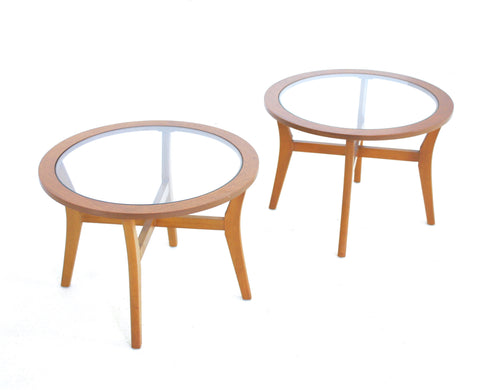 PAIR OF MID CENTURY DANISH SIDE TABLES - FREE SHIPPING