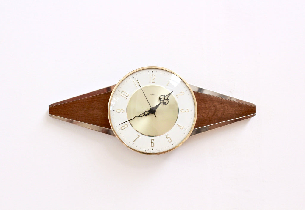 MID CENTURY WALL CLOCK BY METAMEC