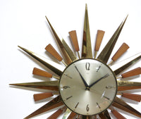 MID CENTURY STARBURST CLOCK BY METAMEC