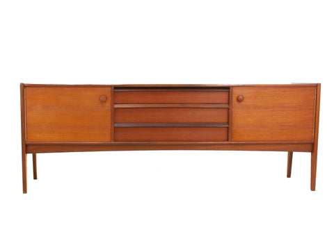 MID CENTURY MODERN TEAK CREDENZA BY A. YOUNGER