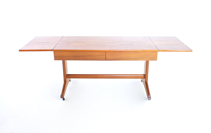 MID CENTURY TEAK FOLDING TABLE BY MCINTOSH OF SCOTLAND