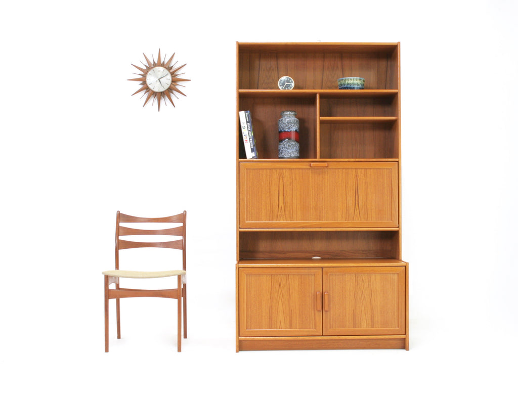 Mid Century Display Cabinet/Bookcase   Danish