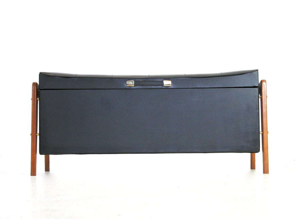 MID CENTURY DANISH HOPE CHEST/OTTOMAN