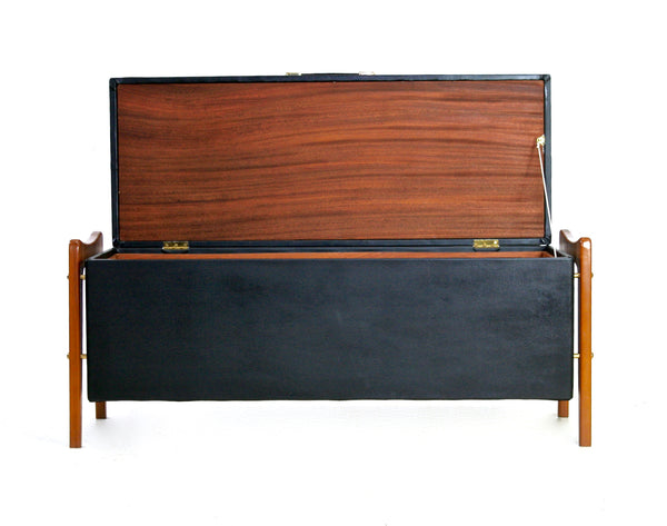 MID CENTURY DANISH CEDAR / HOPE CHEST/OTTOMAN