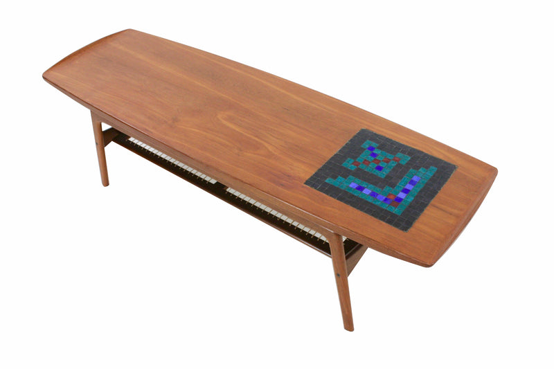 Arne Hovmand-Olsen Teak and Tile Coffee Table 1950s