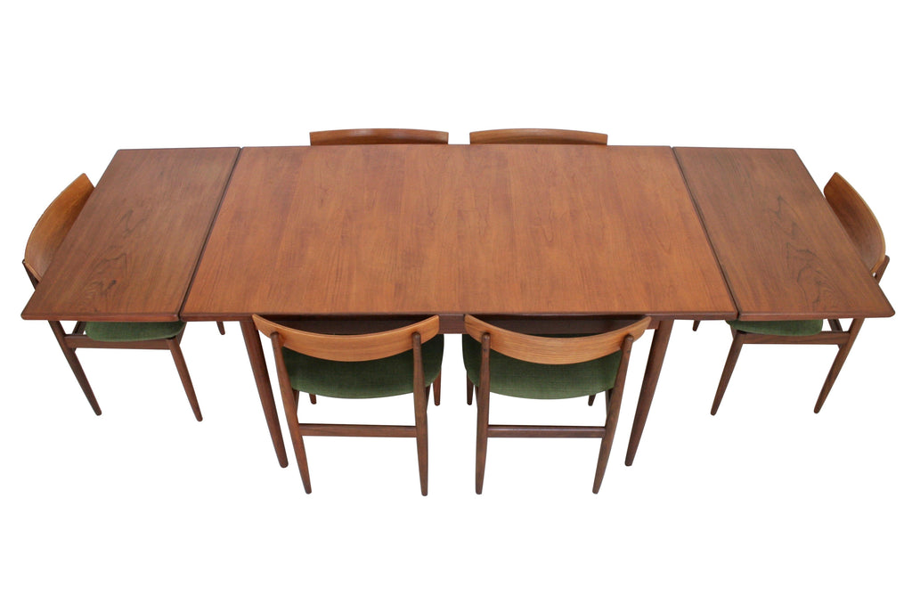 Mid Century Dining Table and 6 Chairs by Kofod Larsen