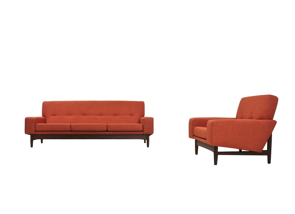 Mid Century Sofa and Lounge Chair by Kofod Larsen