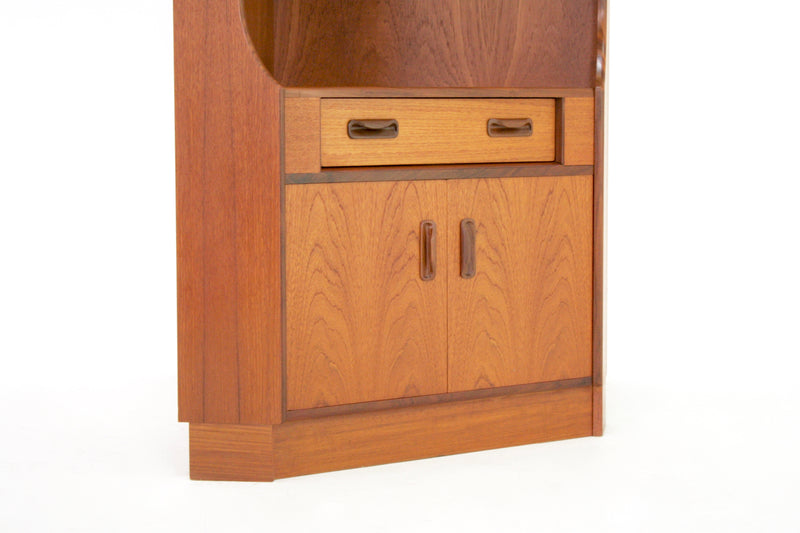 Mid Century Corner Display Cabinet by G Plan