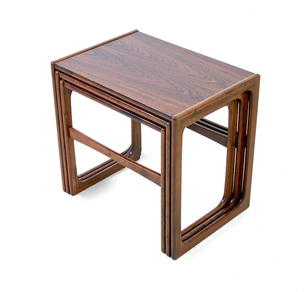 MID CENTURY ROSEWOOD NESTING TABLES BY B.R.MOBLER OF DENMARK