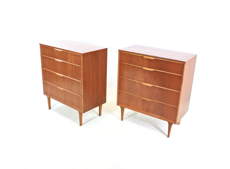 PAIR OF TEAK DRESSERS/NIGHTSTANDS BY AUSTINSUITE
