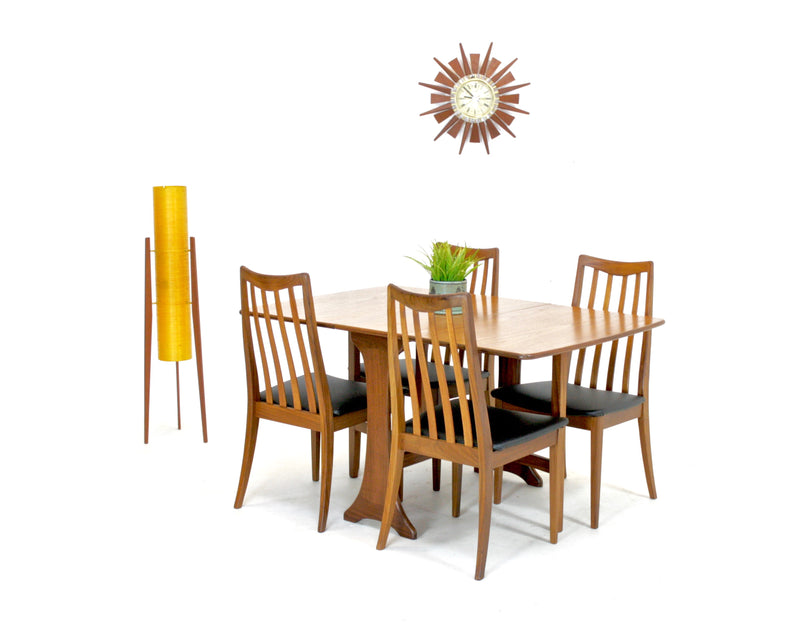 Mid Century Table and 4 chairs by G Plan