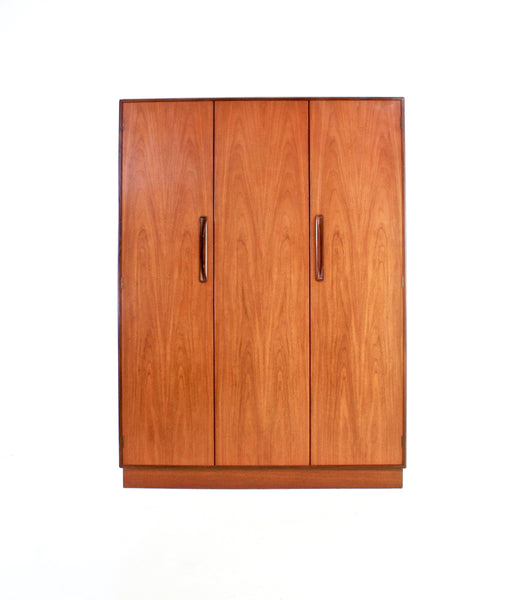 MID CENTURY TRIPLE ARMOIRE/WARDROBE BY G PLAN