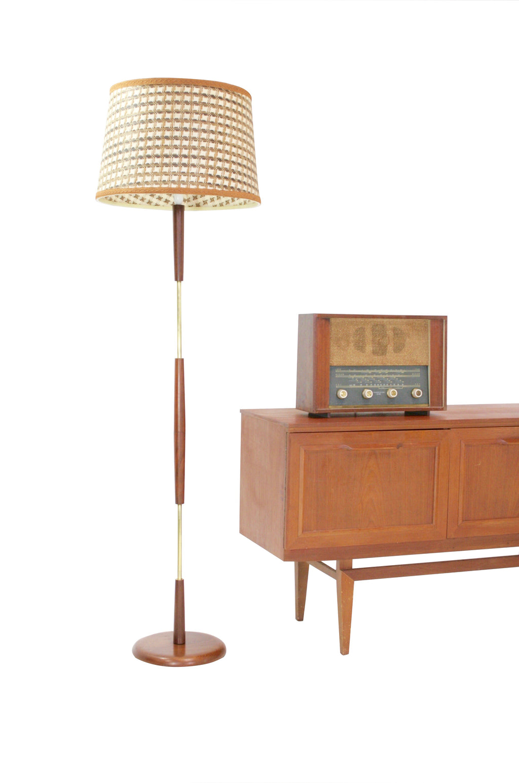 Mid Century Floor Lamp...Teak and Brass..Danish