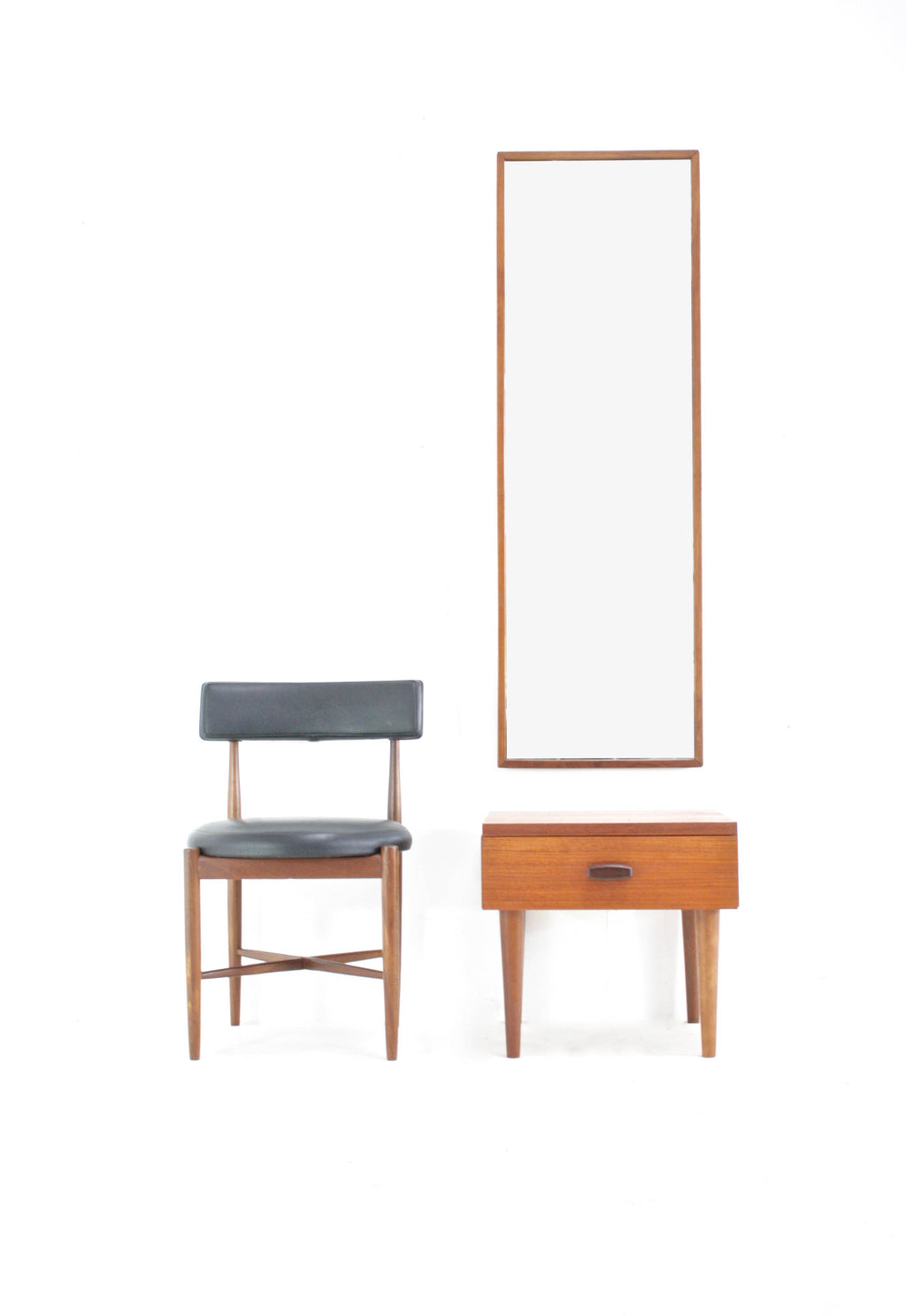 Mid Century Mirror/Table entryway set