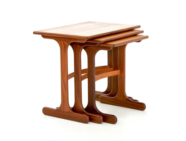 MID CENTURY TEAK NESTING TABLES BY G PLAN - FREE SHIPPING