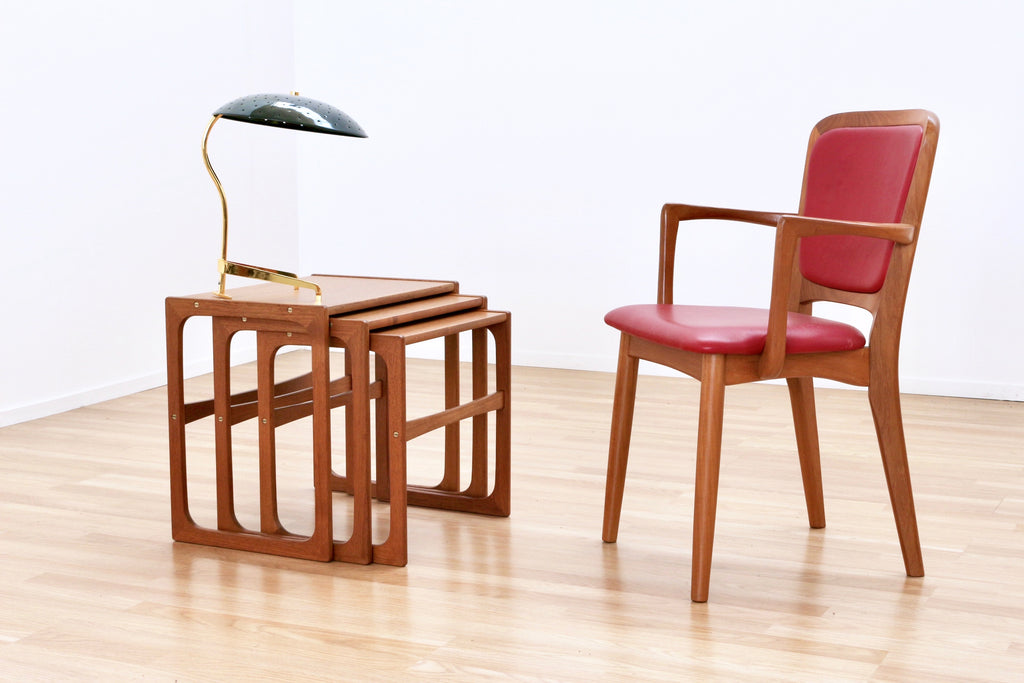 DANISH MODERN TEAK NEST OF TABLES BY BR GELSTED