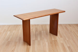 DANISH MODERN TEAK CONSOLE TABLE/VANITY DESK BY VEJILE STOLE MOBELFABRIK