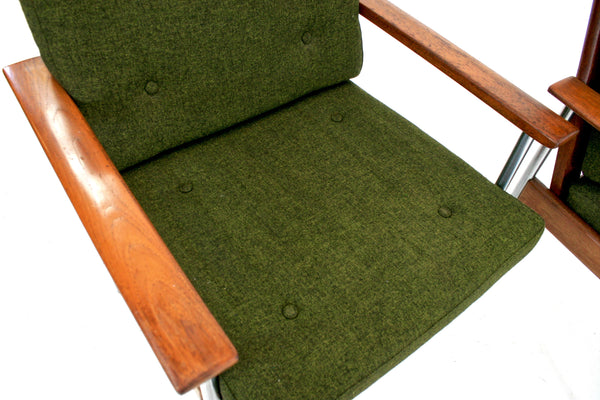 PAIR OF MID CENTURY LOUNGE CHAIRS BY DOKKA MOBLER OF NORWAY