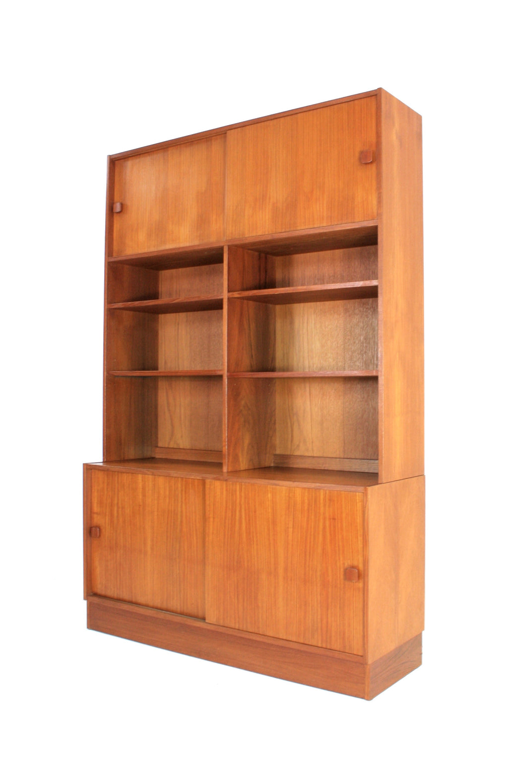 MID CENTURY BOOKCASE DISPLAY CABINET BY DOMINO MOBLER OF DENMARK
