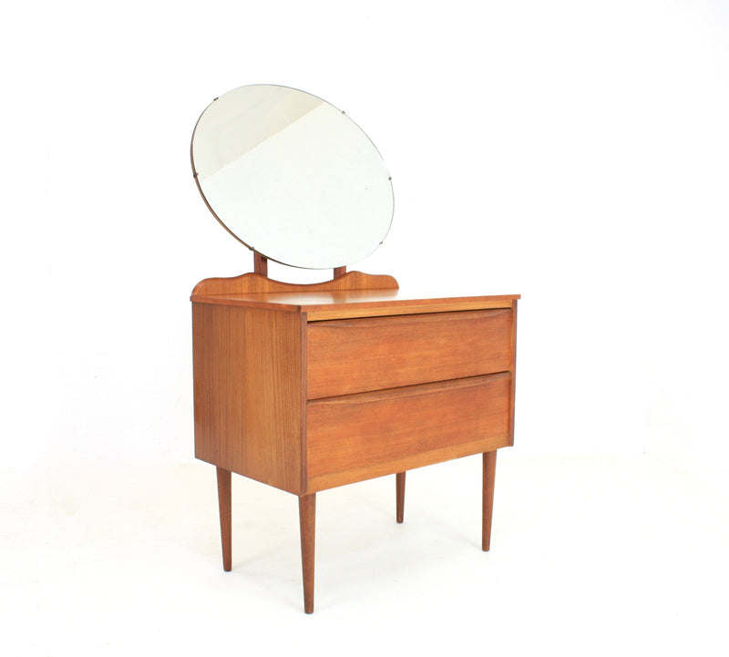 MID CENTURY DANISH ENTRY WAY TABLE AND MIRROR