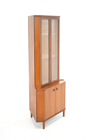 Mid Century Corner China Cabinet by Turnidge of London