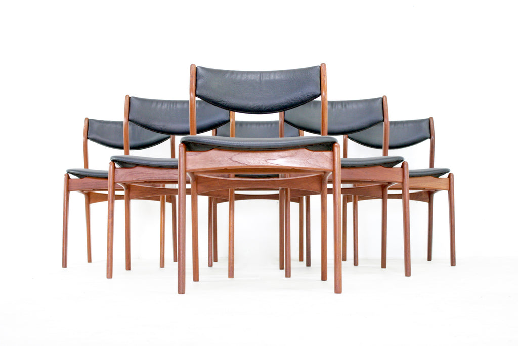 Mid Century Dining Chairs by Farso Stolefabrik Denmark